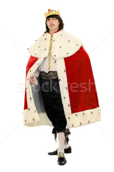Man in the royal costume. Isolated Stock photo © acidgrey