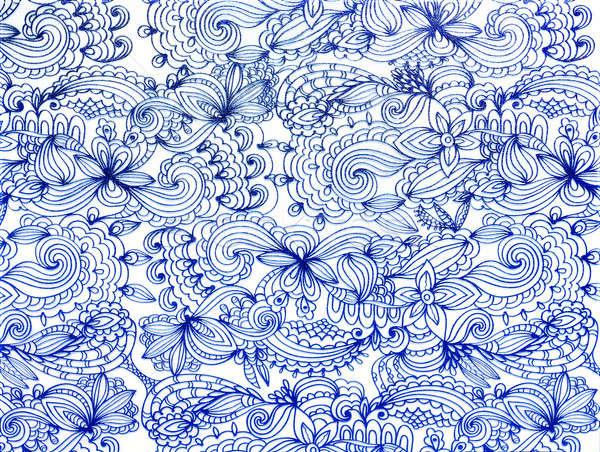 Blue lace pattern Stock photo © acidgrey