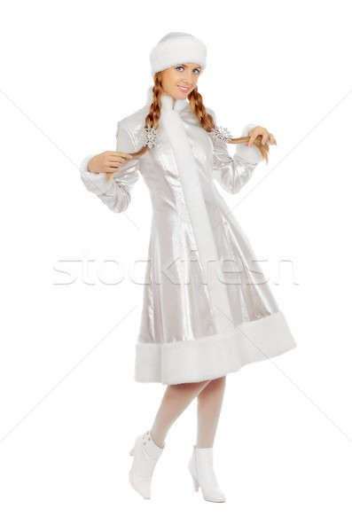 Stock photo: Charming smiling Snow Maiden
