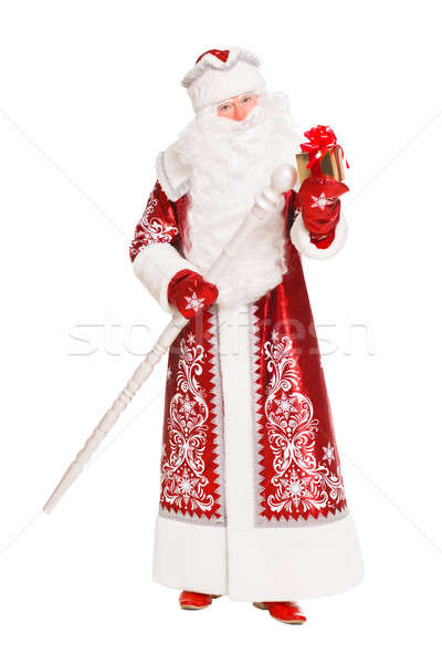 Santa Claus with gift box Stock photo © acidgrey