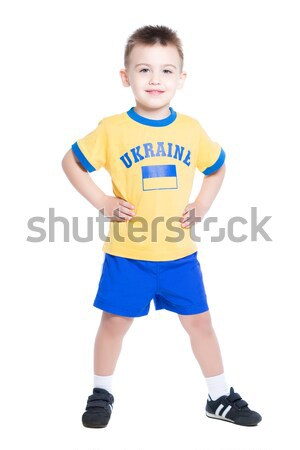 Nice little Ukrainian boy Stock photo © acidgrey