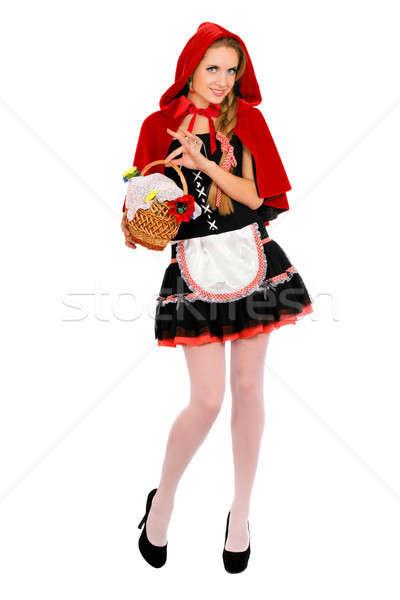 Beautiful Little Red Riding Hood Stock photo © acidgrey