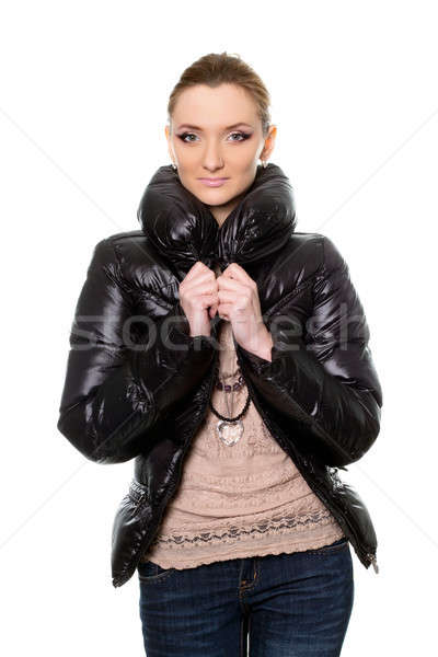 young woman in jeans and jacket Stock photo © acidgrey