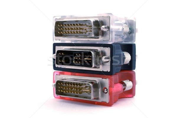 adapters vga-dvi on a white background. isolated 5 Stock photo © acidgrey