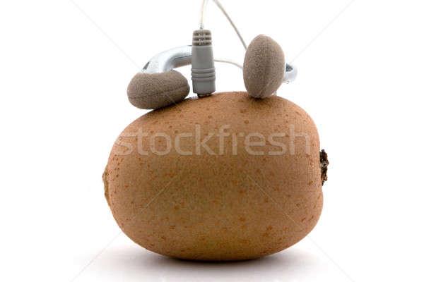 Music player fruto metal trabalhando cabo engraçado Foto stock © acidgrey