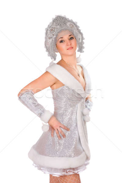 Stock photo: Portrait of a nice Snow Maiden