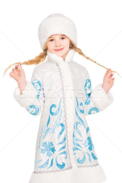 Zdjęcia stock: Mały · stwarzające · zimą · kostium