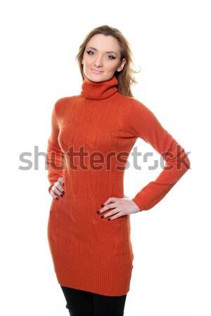 Retrato atractivo jóvenes vestido rojo aislado Foto stock © acidgrey