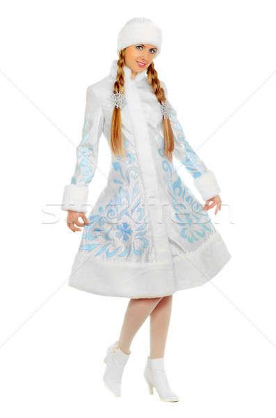 Stock photo: Nice smiling Snow Maiden