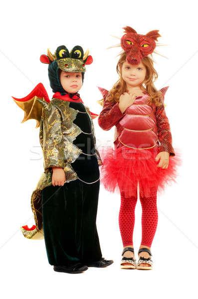 Two small children Stock photo © acidgrey