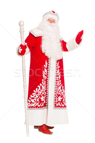 Santa Claus with a staff. Stock photo © acidgrey