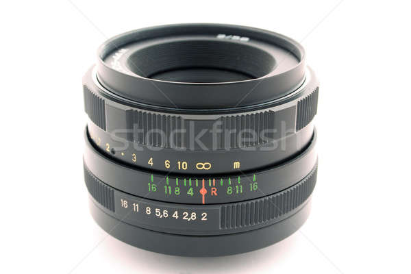 Objetivo foto câmera branco isolado Foto stock © acidgrey
