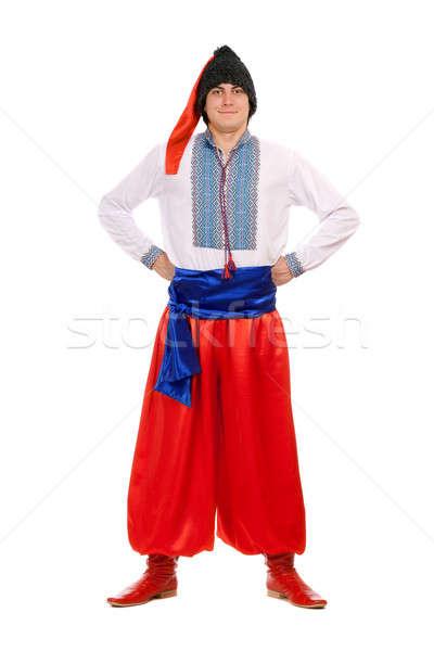 man in the Ukrainian national costume. Isolated Stock photo © acidgrey
