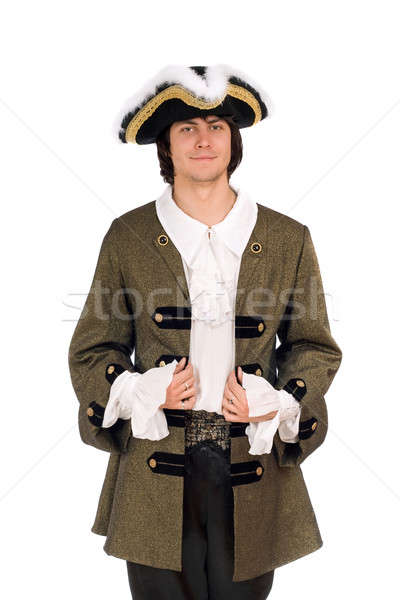 Portrait of man in a historical costume Stock photo © acidgrey