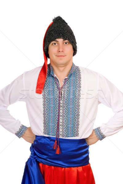 man in the Ukrainian national costume Stock photo © acidgrey
