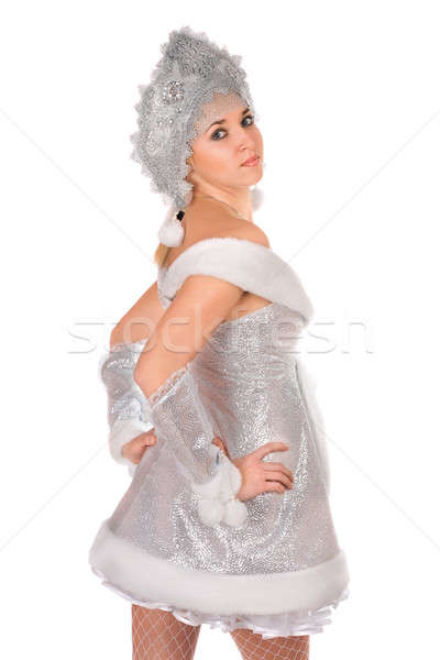Portrait of a cute Snow Maiden Stock photo © acidgrey