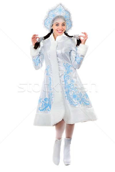Pretty cheerful lady Stock photo © acidgrey