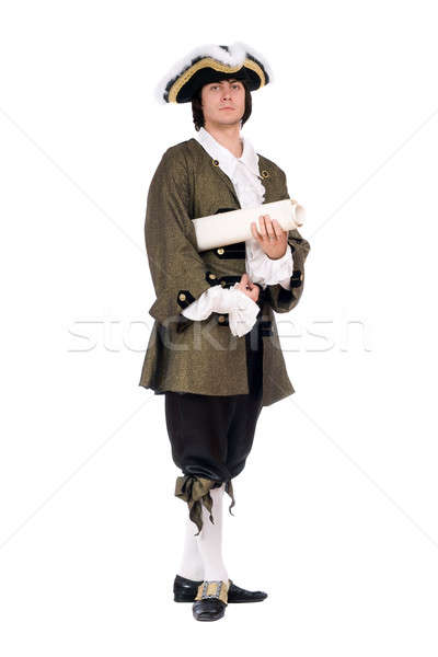 Man in a historical costume Stock photo © acidgrey