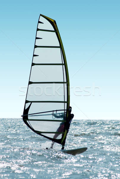 Windsurfer on waves of a sea  Stock photo © acidgrey