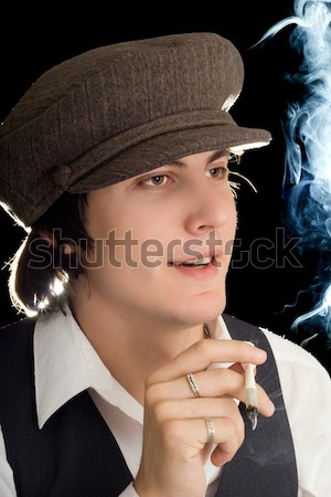 man with a burn Stock photo © acidgrey