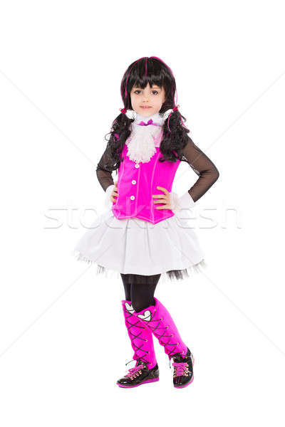 Zdjęcia stock: Dość · mały · brunetka · stwarzające · modny · ubrania