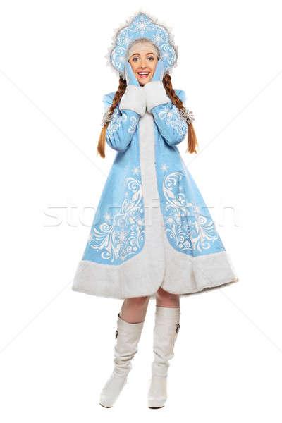 Young playful woman Stock photo © acidgrey