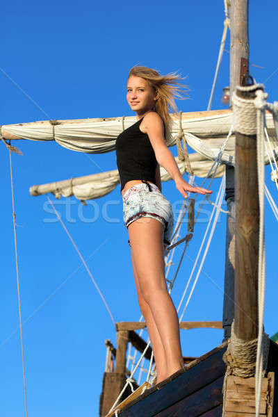 Beautiful teen girl Stock photo © acidgrey