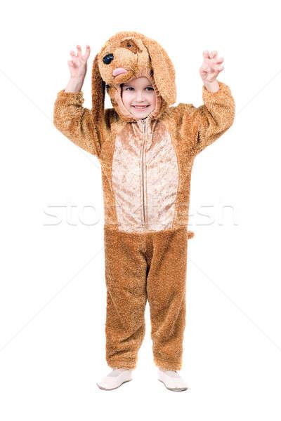 Сток-фото: смешные · мальчика · собака · изолированный · белый · рук