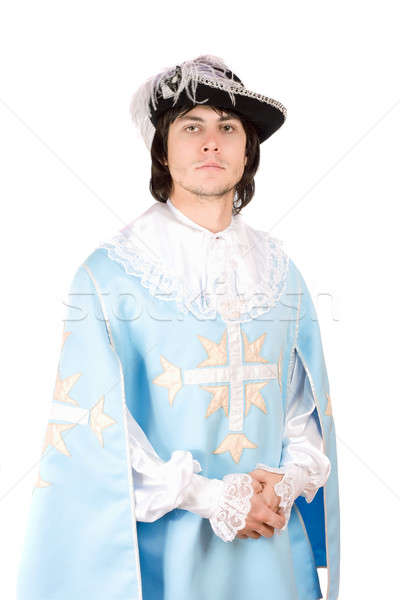 young man dressed as musketeer Stock photo © acidgrey