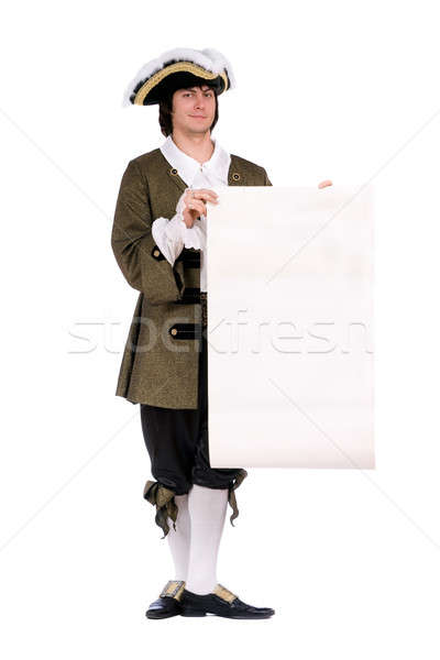 Man in a historical costume with the decree Stock photo © acidgrey