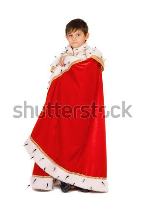 Boy dressed in a robe of King Stock photo © acidgrey