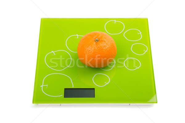 Zoete mandarijn- schalen geïsoleerd natuur Stockfoto © acidgrey