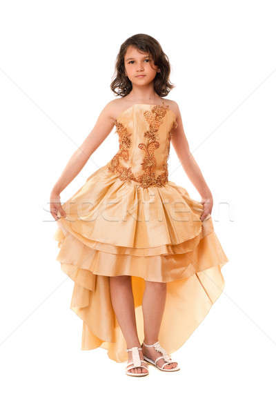Beautiful little girl in a chic dress Stock photo © acidgrey
