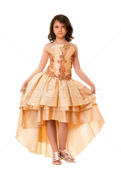 Attractive little girl in a chic dress Stock photo © acidgrey