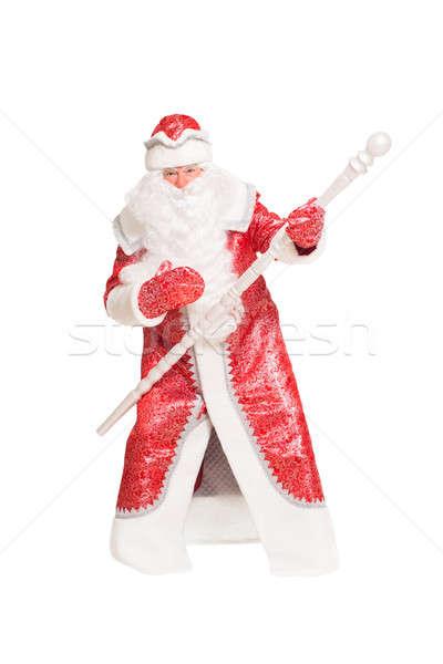 Santa Claus with a staff Stock photo © acidgrey