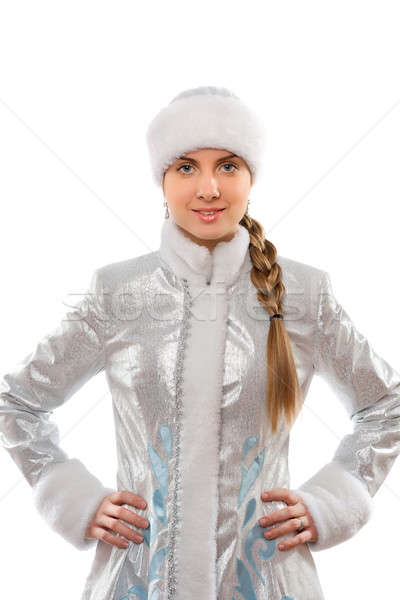 Stock photo: Portrait of a smiling attractive Snow Maiden