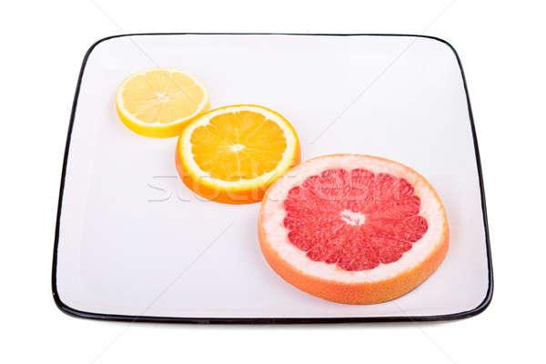 Stock photo: Grapefruit, orange and lemon