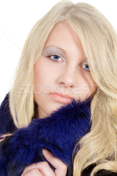 Portrait of the blonde with an ice sight Stock photo © acidgrey