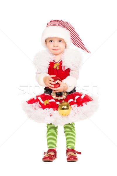 Menina ajudante terno little girl posando isolado Foto stock © acidgrey