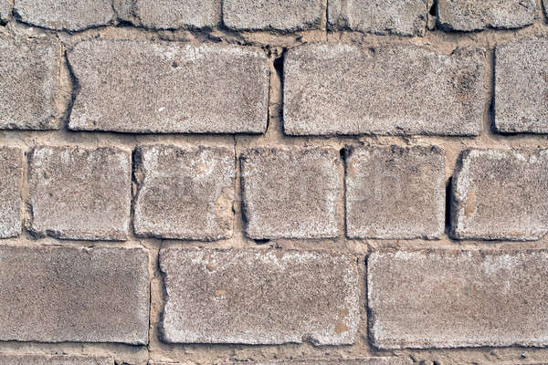 old wall from a rough grey brick. background 1 Stock photo © acidgrey