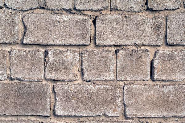 Starych ściany szorstki szary cegły budynku Zdjęcia stock © acidgrey