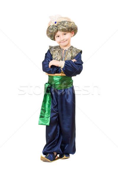 Boy wearing oriental costume Stock photo © acidgrey