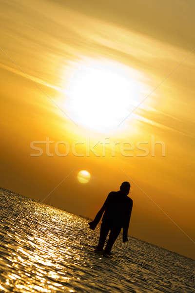 Lady at the seashore Stock photo © acidgrey