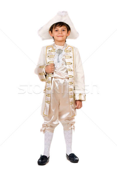 Boy in a historical costume Stock photo © acidgrey