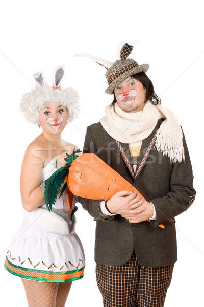 Portrait of a funny couple Stock photo © acidgrey