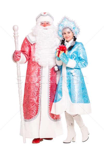 Russian Christmas characters Ded Moroz and Snegurochka Stock photo © acidgrey