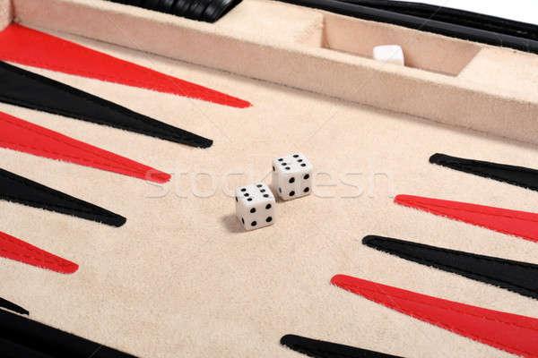 Doble dos seis diversión negro éxito Foto stock © acidgrey