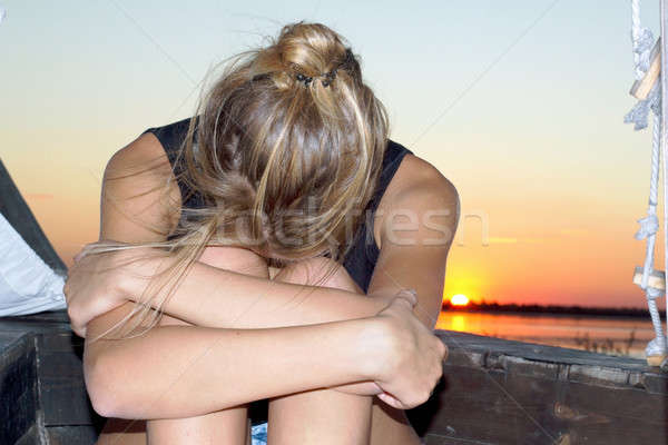 Sad teen girl Stock photo © acidgrey