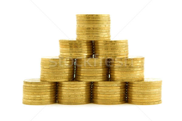 a pyramid from coins 2 Stock photo © acidgrey