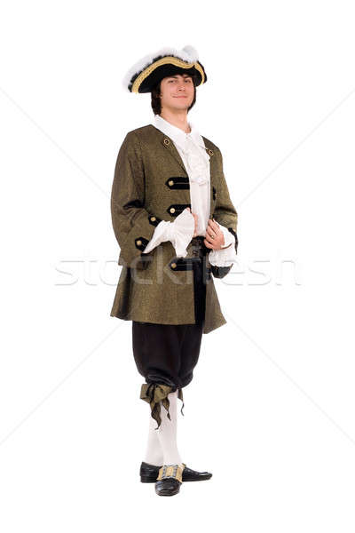 Young man in a historical costume Stock photo © acidgrey